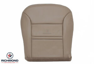 00 Ford Excursion Limited Driver Side Bottom Replacement Leather Seat Cover Tan