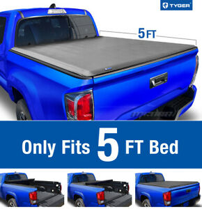 Tyger T1 Roll Up Tonneau Cover For 2016 2021 Toyota Tacoma Excl Trail 5ft Bed