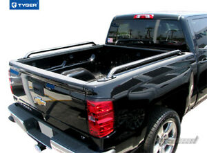 Stainless Truck Bed Rails For 2014 2017 Silverado Sierra 1500 W 5 5 Short Bed