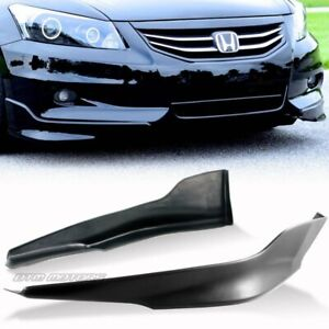 For 2011 2012 Honda Accord 4dr Oe Style Polyurethane Front Adds on Bumper Lip