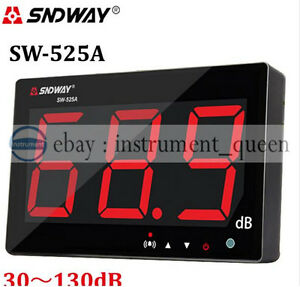 Sw 525a Wall Hanging Sound Level Meter 30 130db Large Screen Display