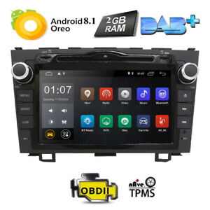 Android 8 1 Quad Core 1024x600 Car Dvd Gps Navi Radio For Honda Crv Cr V Dab Us