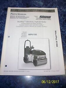 Stone Wolfpac Vibratory Asphalt Roller Parts Manual For Wp6100 Toro Multilingual
