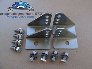 Volvo Amazon 121 122 Front Seat Mounts Stainless Steel