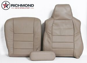 2005 Ford Excursion Driver Side Bottom Lean Back Armrest Leather Seat Covers