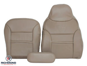 00 01 Ford Excursion Limited Front Drivers Seat Complete Leather Seat Covers Tan