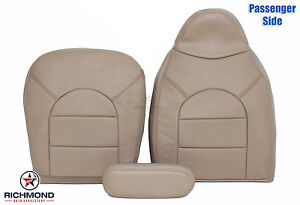 1999 Ford F250 F350 Lariat complete Front Passenger Side Leather Seat Covers Tan