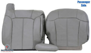 2000 2002 Chevy Tahoe Suburban Passenger Side Complete Leather Seat Covers Gray