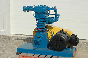 25 Hp Blackmer Model Hdl612c Two stage Oil free Gas Compressor