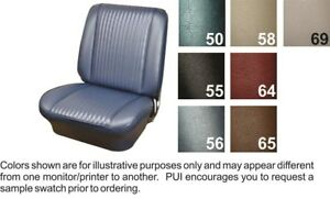 1964 Chevrolet Chevelle Front Buckets Coupe Rear Seat Covers Aqua Pui