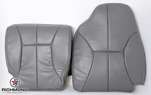 2001 Dodge Ram 1500 Driver Side Complete Bottom Top Leather Seat Covers Gray