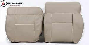 2008 Ford F150 Lariat Driver Side Complete Replacement Leather Seat Covers Tan