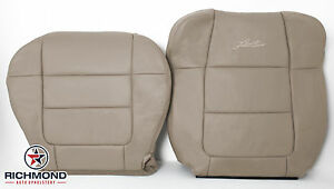 01 02 Ford F150 Lariat Crew front Driver Captain Bucket Leather Seat Covers Tan