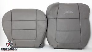 2001 2002 Ford F150 Lariat Supercrew driver Complete Leather Seat Covers Gray