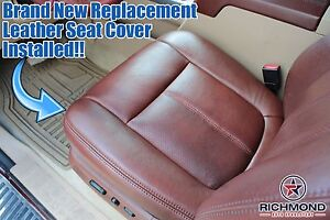 2011 Ford F250 F350 King Ranch Driver Side Bottom Replacement Leather Seat Cover