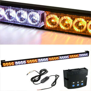 35 5 32 Led Amber white Emergency Warning Strobe Light Bar With Controller