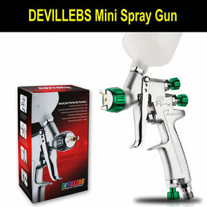 Devillebs Mini Paint Sprayer Spray Gun Sri Professional 1 2mm Gravity Feed Hvlp