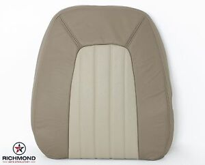 2002 Mercury Mountaineer driver Side Lean Back Leather Seat Cover 2 tone Tan