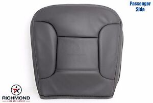 92 96 Ford Bronco Xlt With Leather Passenger Bottom Leather Seat Cover Dark Gray