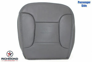 92 96 Bronco Eddie Bauer Passenger Bottom Replacement Leather Seat Cover Gray