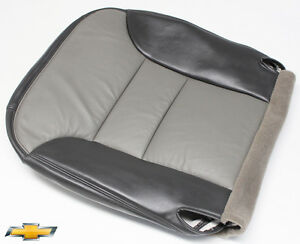 1999 2000 Chevy Tahoe Z71 Driver Side Bottom Leather Seat Cover 2 Tone Gray