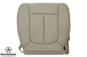 2009 2010 Ford F150 Lariat Driver Side Bottom Leather Bucket Seat Cover Tan