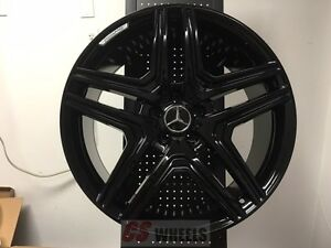 22 Amg G63 Style Gloss Black Wheels Rims Fits Mercedes Benz G Wagon G Class