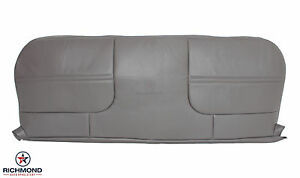1999 2000 2001 Ford F450 F550 Xl Work Truck bottom Bench Seat Vinyl Cover Gray