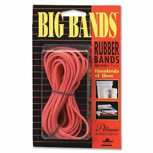 Alliance Rubber Big Rubber Bands 7 Length X 0 13 Width Biodegradable 12