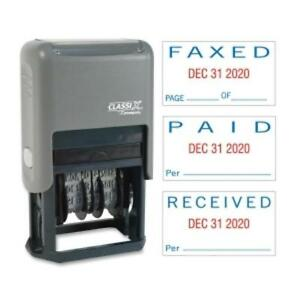 Xstamper Self inked Stamp Message date Stamp paid Faxed xst40330