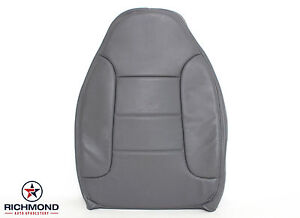 92 96 Ford Bronco Xlt Driver Side Lean Back Perforated Leather Seat Cover Gray