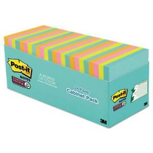 Post it Miami Super Sticky Notes Cabinet Pack 1680 X Multicolor 2 50 X 6