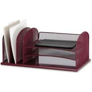 Safco Onyx 3 Tray 3 Upright Section Desk Organizer 8 3 Height X 19 5 Width X