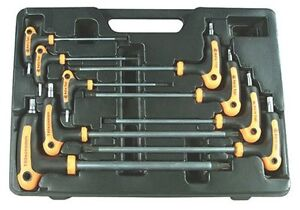 Astro Pneumatic 1023 9 Piece T 4 Handle Tamper Star And Key Wrench Set