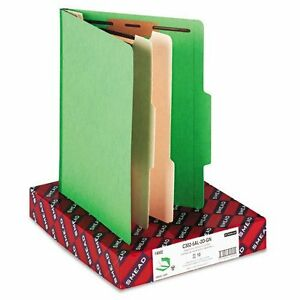 Smead 14002 Green Classification File Folders Letter 8 50 Width X 11