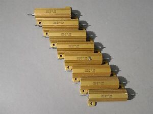 Lot Of 8 Dale Power Resistor Rh 50 50w 10k New