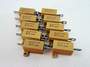 Lot Of 11 Dale Power Resistor Nh 10 10w 2 New