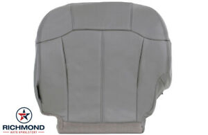 2001 2002 Chevy Silverado 3500 Lt Driver Side Bottom Leather Seat Cover Gray