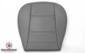 2003 2004 Ford Mustang V6 Convertible Driver Side Bottom Leather Seat Cover Gray