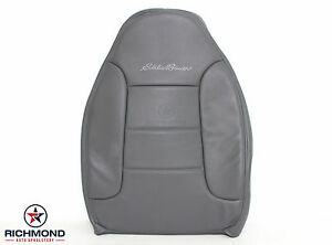 1996 Ford Bronco Eddie Bauer Driver Side Lean Back Leather Seat Cover Gray