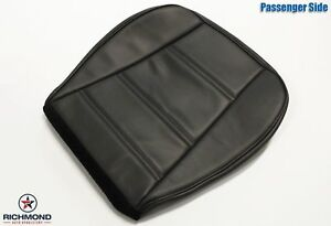 99 04 Ford Mustang V6 Convertible Passenger Side Bottom Leather Seat Cover Black