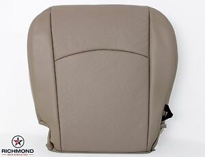 2009 2012 Dodge Ram Laramie Driver Side Bottom Perforated Leather Seat Cover Tan