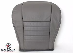 2003 Ford Mustang Gt V8 Driver Side Bottom Replacement Leather Seat Cover Gray
