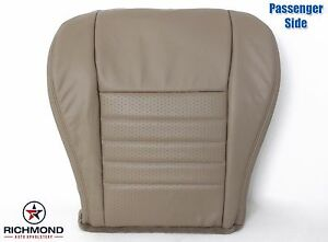 99 00 01 Ford Mustang Gt V8 Convertible passenger Bottom Leather Seat Cover Tan
