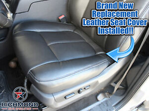2015 2016 F250 350 Lariat driver Side Bottom Perforated Leather Seat Cover Black