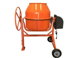 8 83 Cubic Feet Electric Cement Concrete Stucco Mortar Mixer Heavy Duty 1 3 8 Hp