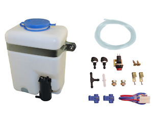 Aci Universal Windshield Wiper Systems Quality Washer Pump Kit Reservoir 99300