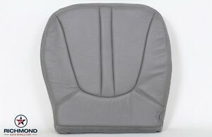 1999 Ford Expedition driver Side Bottom Captain Bucket Leather Seat Cover Gray