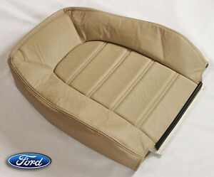 2004 Ford Explorer Xlt Xls 4dr Suv driver Side Lean Back Leather Seat Cover Tan