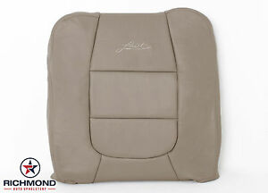 2003 Ford F150 Lariat Crew driver Side Lean Back Leather Captain Seat Cover Tan